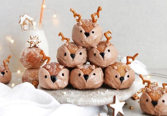 vegan deer biscoff doughnut holes