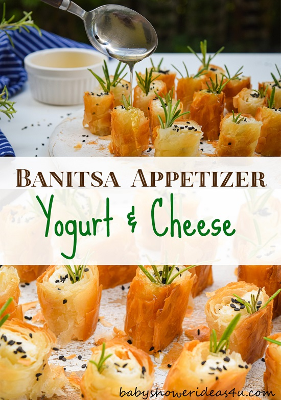 yogurt and cheese pastry appetizier