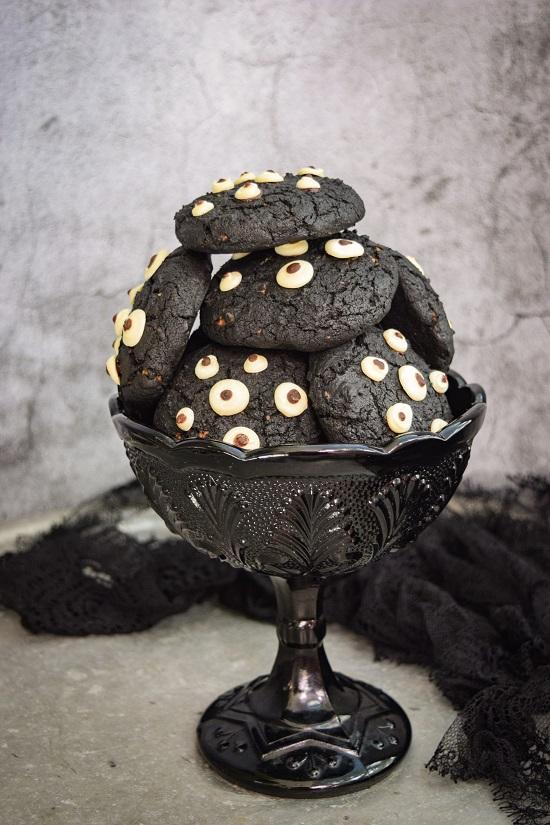 Cute Spooky Black Cookies recipe