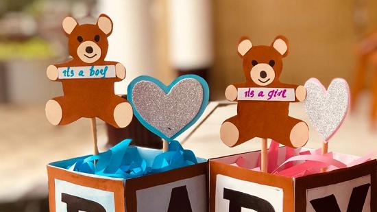 Cute Teddy Bear ABC Block centerpieces