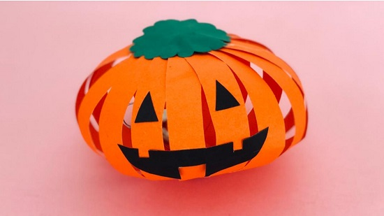 DIY Easy Paper Halloween Pumpkin Making