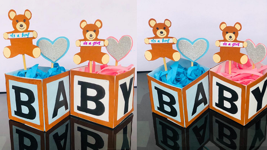 DIY baby shower teddy bear box