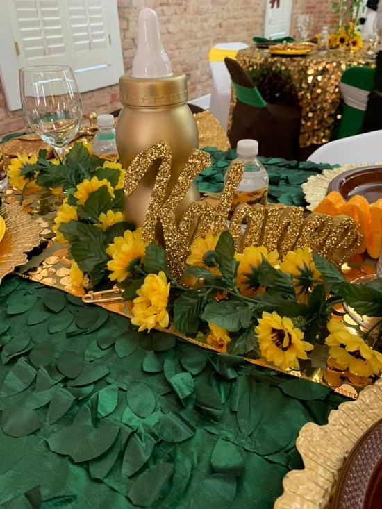 Payette sequin table runners