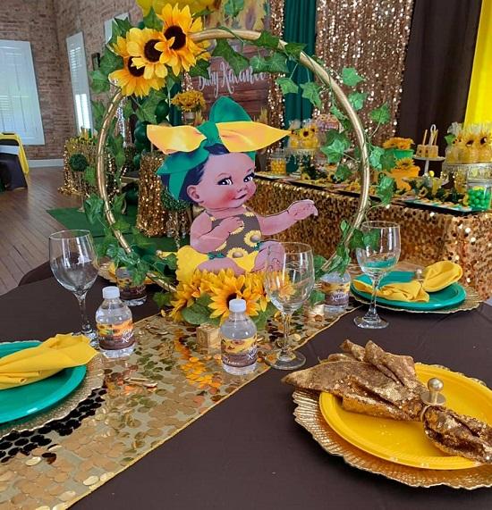 Sunflower Princess Centerpiece