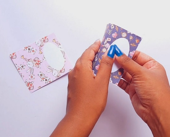 assembling printable food menu fold cards