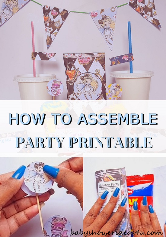 DIY How to Assemble Party Printable