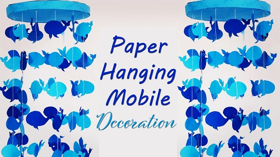 paper hanging mobile decoration