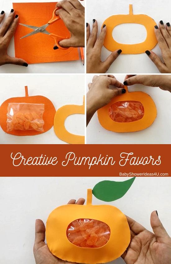 DIY Creative Pumpkin Party Favors