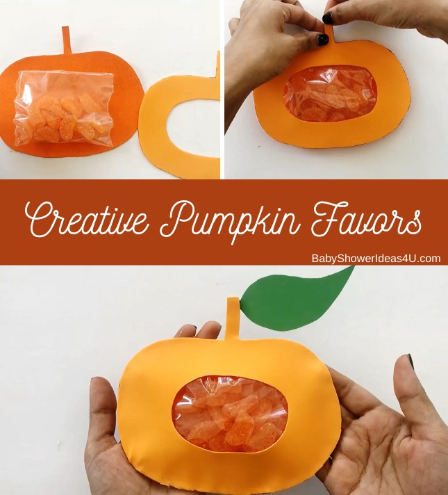 DIY Creative Pumpkin Party bags