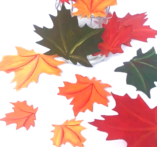 DIY Spiral Fall Leaves Décor