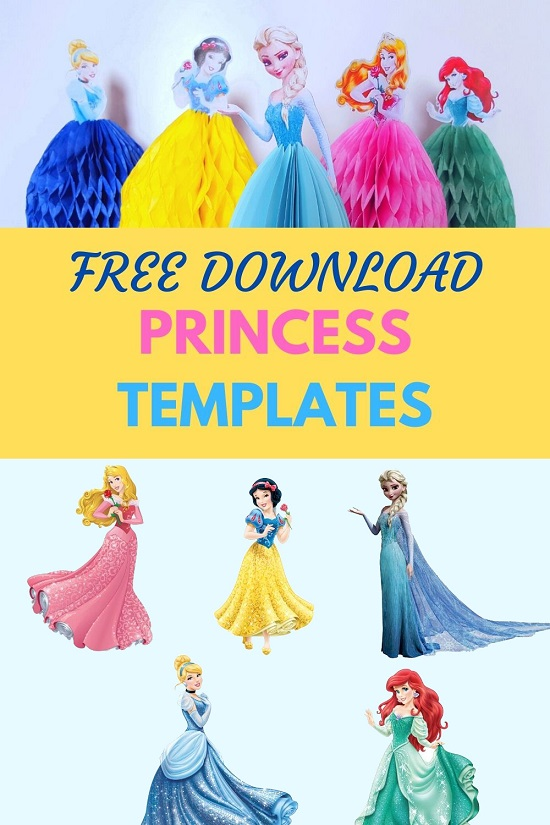 Free disney princess cutout template Download