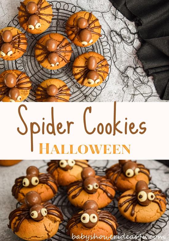 Fun Halloween Peanut Butter Spider Cookies Recipe