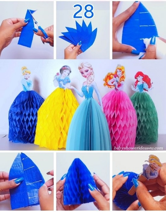 How to make a Easy Paper Tissue Princess Dresses