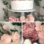 Simple Chic Floral Baby Shower Setup