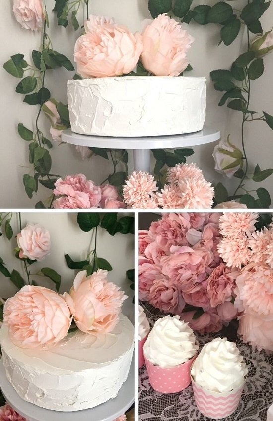 Simple Chic Floral Baby Shower