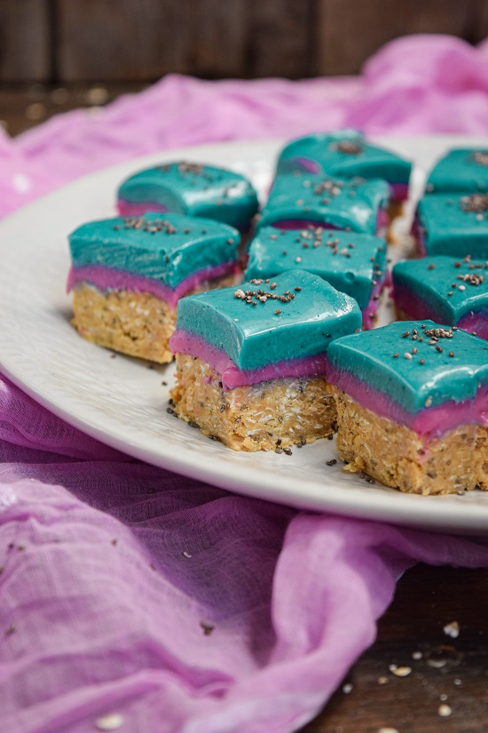 all natural coloring pink and blue bars