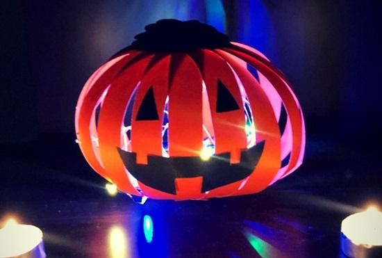 paper lantern pumpkin