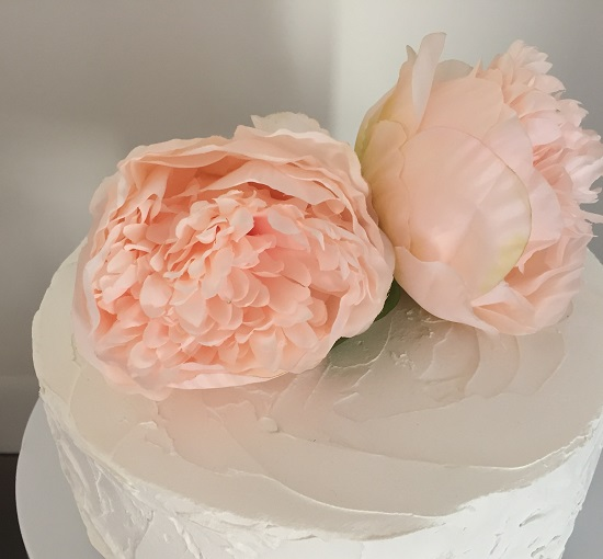 peonies flower cake