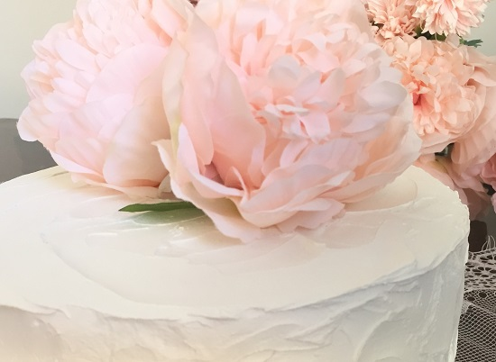 pink peonies topper