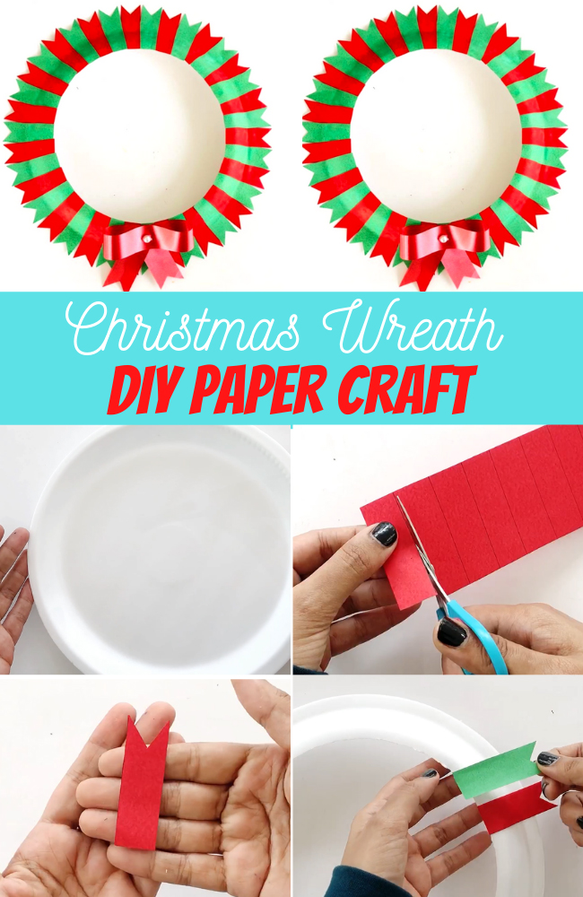 DIY Christmas Wreath Paper Craft with Kids