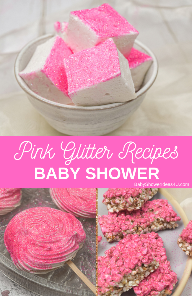 Pink Glitter Baby Shower Recipes girl