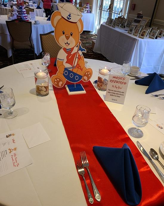 sailor teddy cutout centerpiece for table
