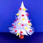 DIY White Christmas Tree Paper Craft