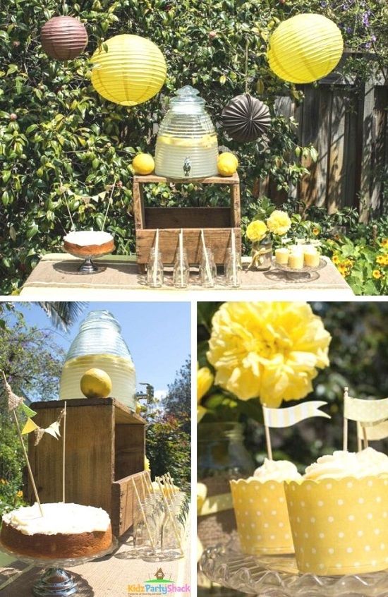Backyard Bumblebee Baby Shower Tablescape