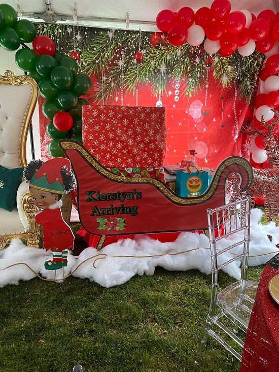 Christmas themed baby shower