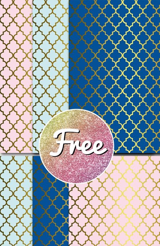 Free Prince and Princess Digital Papers
