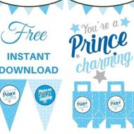 Free-Prince-charming-baby-shower-Package-Instant-download