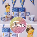 Free Prince and Princess Baby Shower Templates