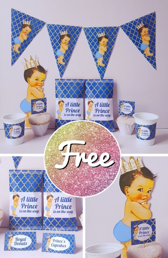 Free Royal Prince Baby Shower Template Printable Download