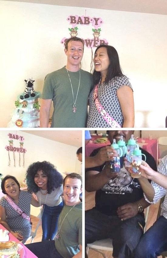 mark zuckerberg Celebrity baby shower photos