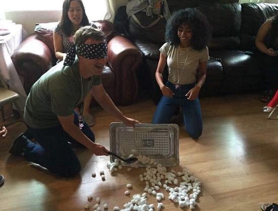 mark zuckerberg baby shower game blindfold