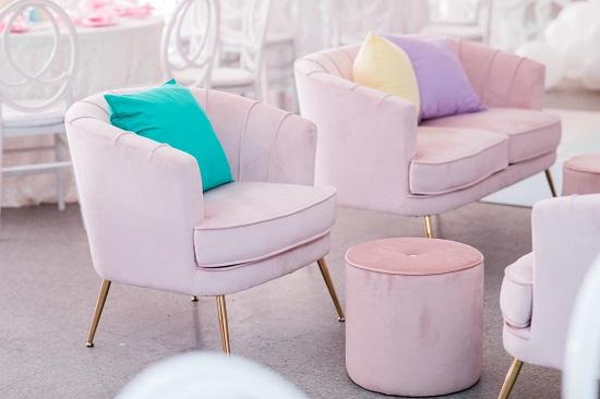 matching rainbow cushions