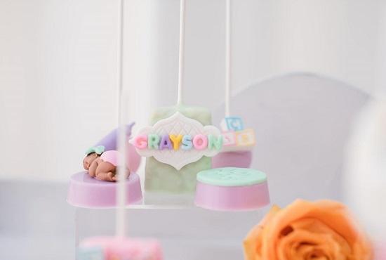 pastel rainbow treats