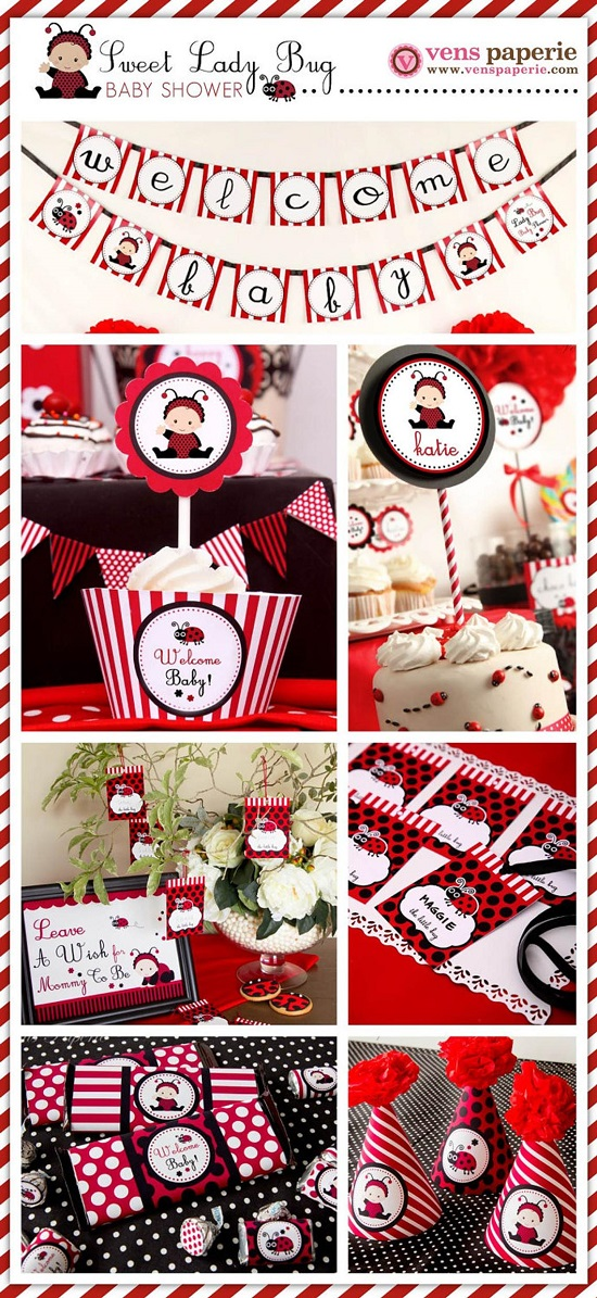 personalised ladybug baby shower package
