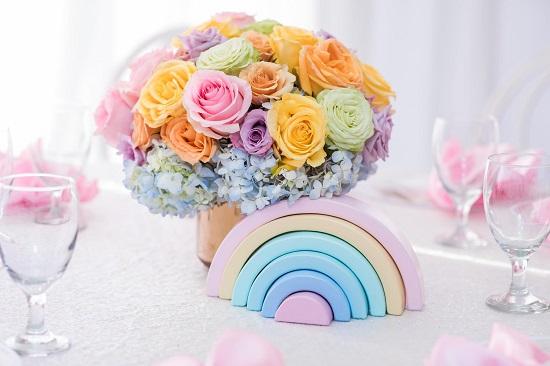 rainbow themed baby blocks