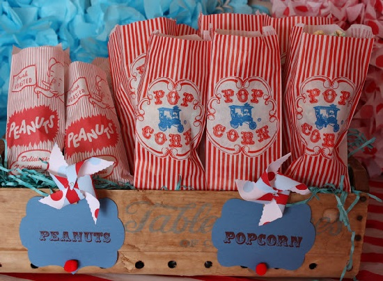 vintage carnival peanuts and popcorns