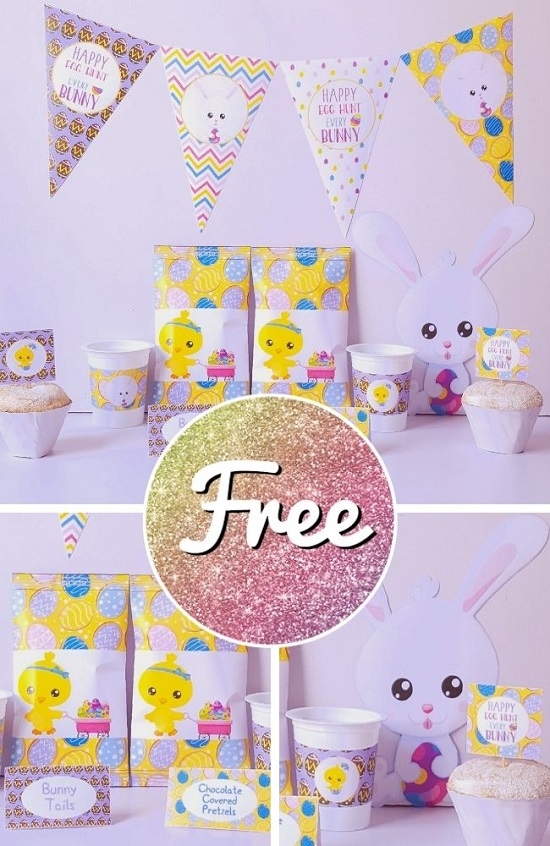 FREE Colorful Easter Party Printable Template