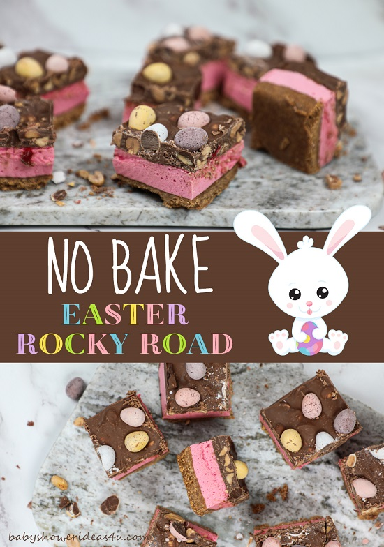No Bake Easter Egg Rocky Road easy