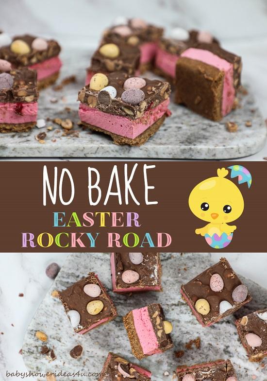 No Bake Easter Egg Rocky Road