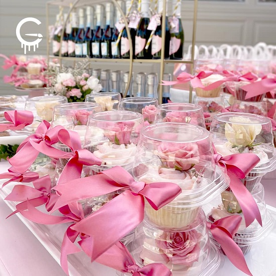 Drive-By Tea Baby Shower in Pink favors