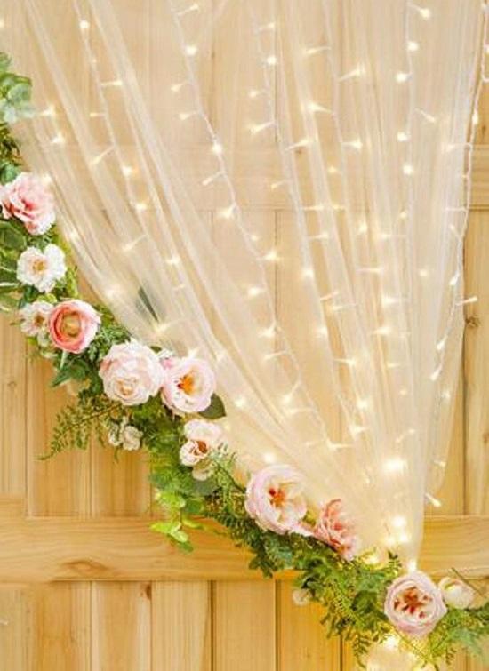 Fairy Twinkle Lights baby shower backdrop