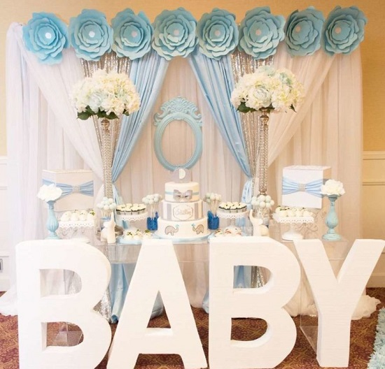 The Curtain Backdrop for baby shower