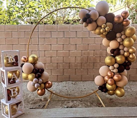 balloon arch metal backdrop