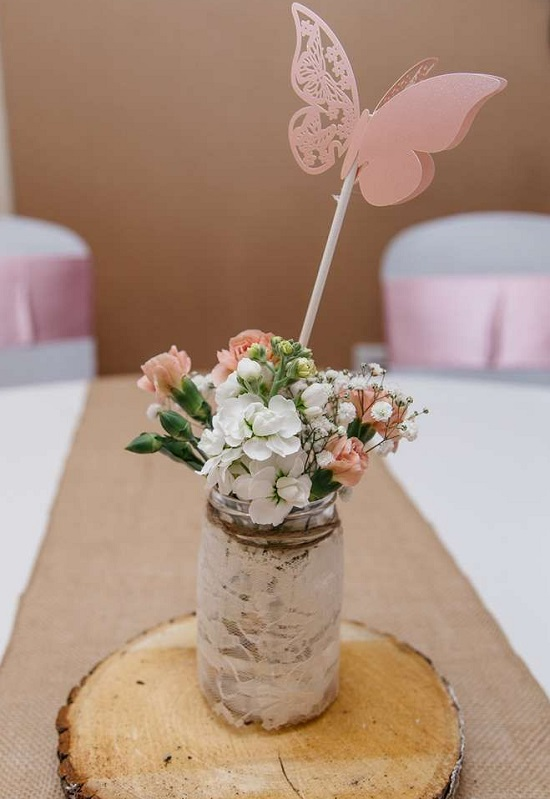 Budget Butterfly Baby Shower Centrepiece ideas