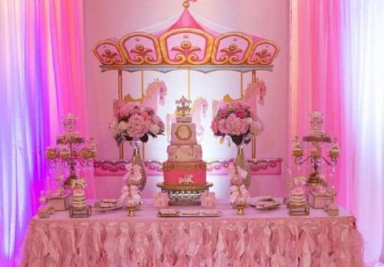 Carousel Baby Shower Dessert Table