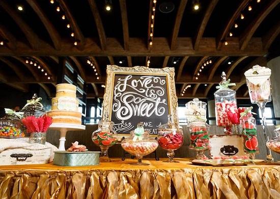 Love is sweet baby shower dessert table